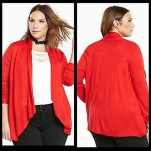 NWT Torrid Open front cherry red cardigan